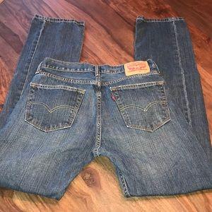 Levi's 505 regular fit mens jeans stone wash 31/34